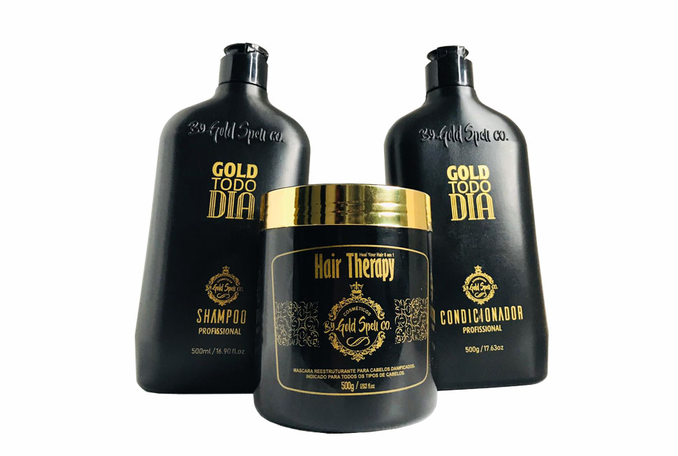 COMBO EXCLUSIVO: KIT GOLD TODO DIA+HAIR THERAPY